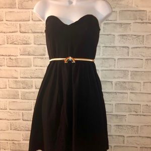 Forever 21 Strapless Cotton/Spandex Dress, L